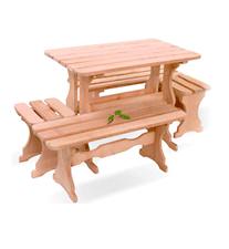 Комплект мебели из ольхи и осины